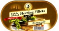 Brivais Vilnis Lightly Smoked Herring Fillets in Oil