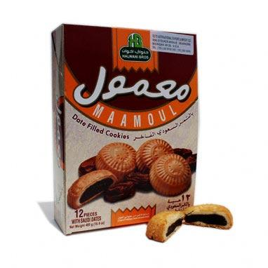 Mamoul Date Cookies (Box of 12X40g) Halwani